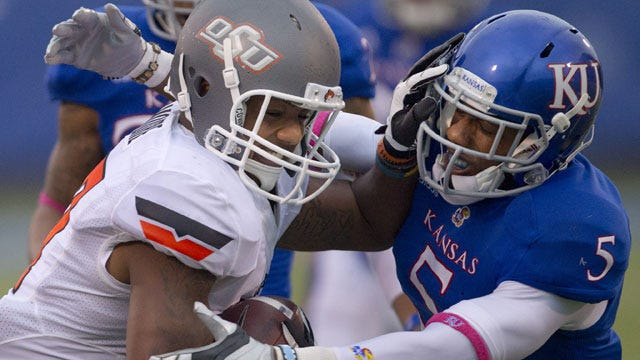 OSU Escapes Kansas With 20-14 Victory