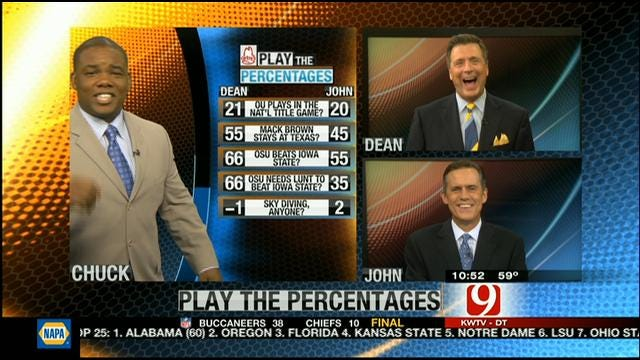 Play The Percentages: October 14, 2012