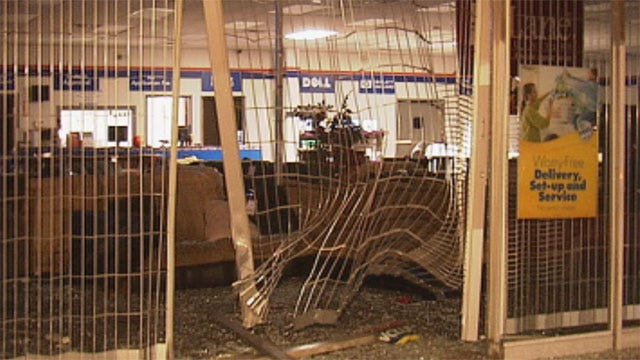 Crooks Drive Truck Through Front Of OKC Rental Store