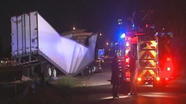 Driver Dies After Crashing Semi Into Vacant Building In Del City