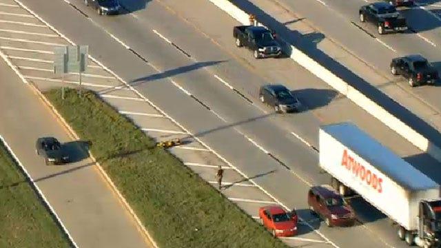 Motorcycle Crash Causes Traffic Backup On I-35 In Edmond
