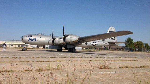 World War II B-29 Superfortress Lands In OKC