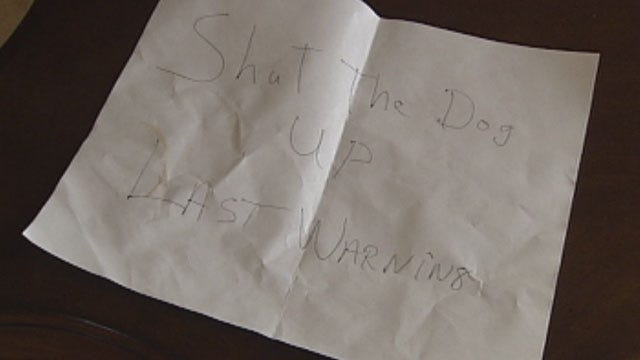 Norman Couple Alarmed After Finding Threatening Note In Mailbox