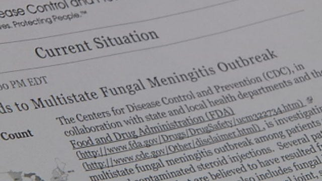 Drugs From Manufacturer Linked To Meningitis Outbreak Pulled From OK Locations