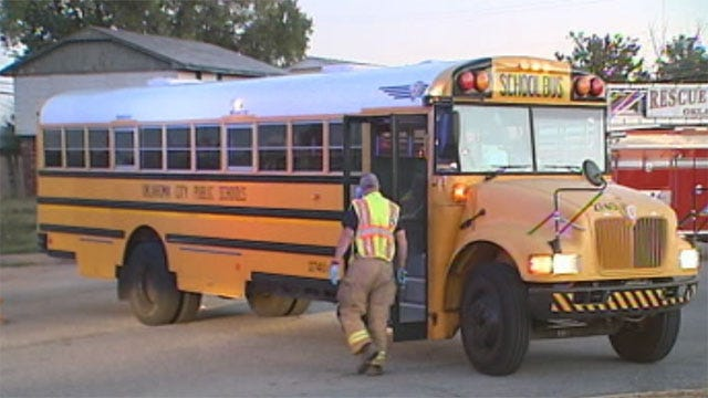 School Bus Collides With Car In Northeast OKC