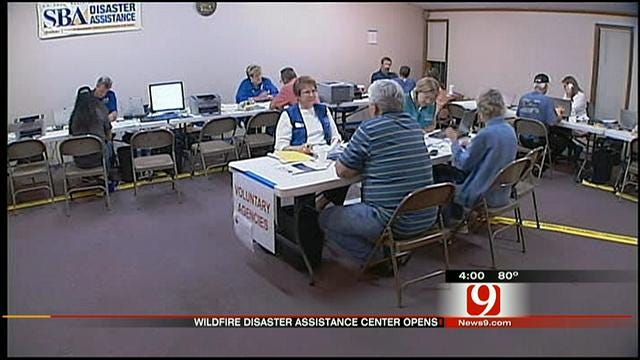 Wildfire Victims Turnout For Opening Of Cleveland County Disaster Center