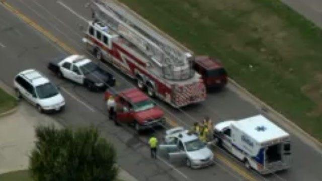 Crews Respond To Multi-Vehicle Crash In Northwest OKC