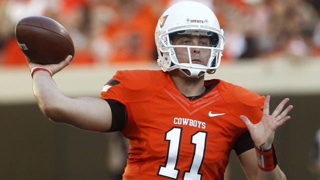 Gundy Yet To Reveal Starting QB Against Kansas