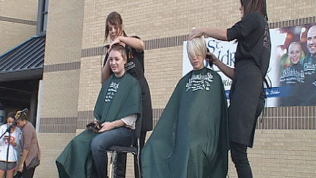 Carl Albert High School Students Go Bald For Good Cause