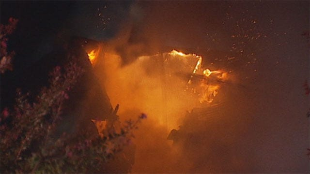 Fire Destroys $395,000 Home In Northwest OKC