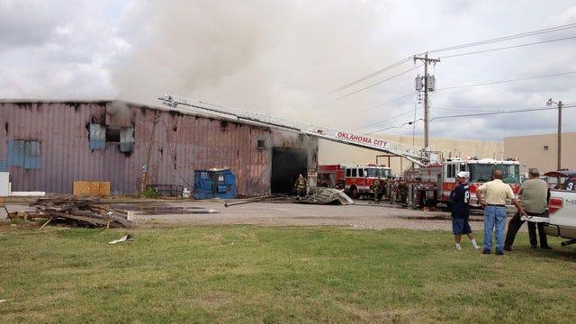 Crews Extinguish Fire At Oklahoma City Furniture Store