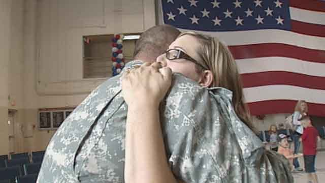 Farewell Ceremony Held For Oklahoma Troops Heading Overseas