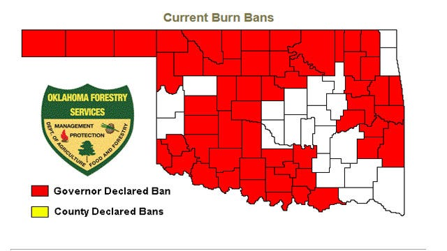 Governor Lifts Burn Ban In Oklahoma County, 21 Others