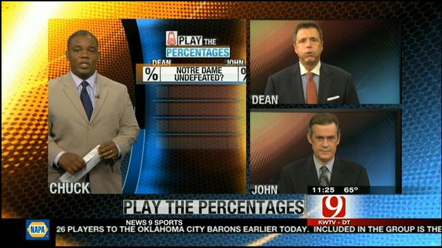 Play The Percentages: September 16, 2012