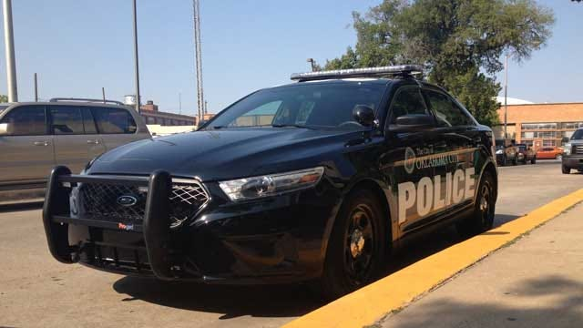 OKC Police Show Off Newly Re-Designed Marked Police Cars