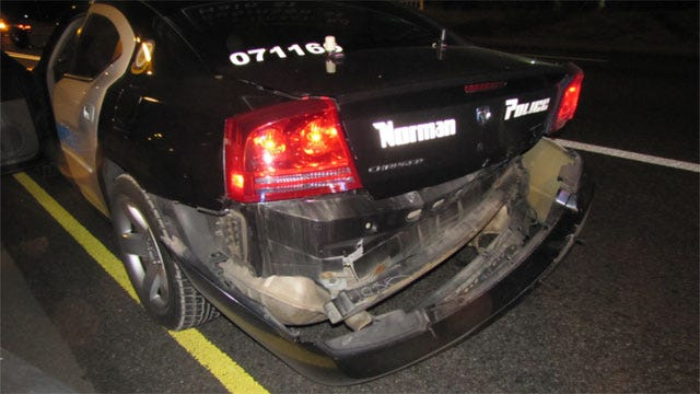 Police: Suspected Drunken Driver Crashes Into Norman Patrol Car