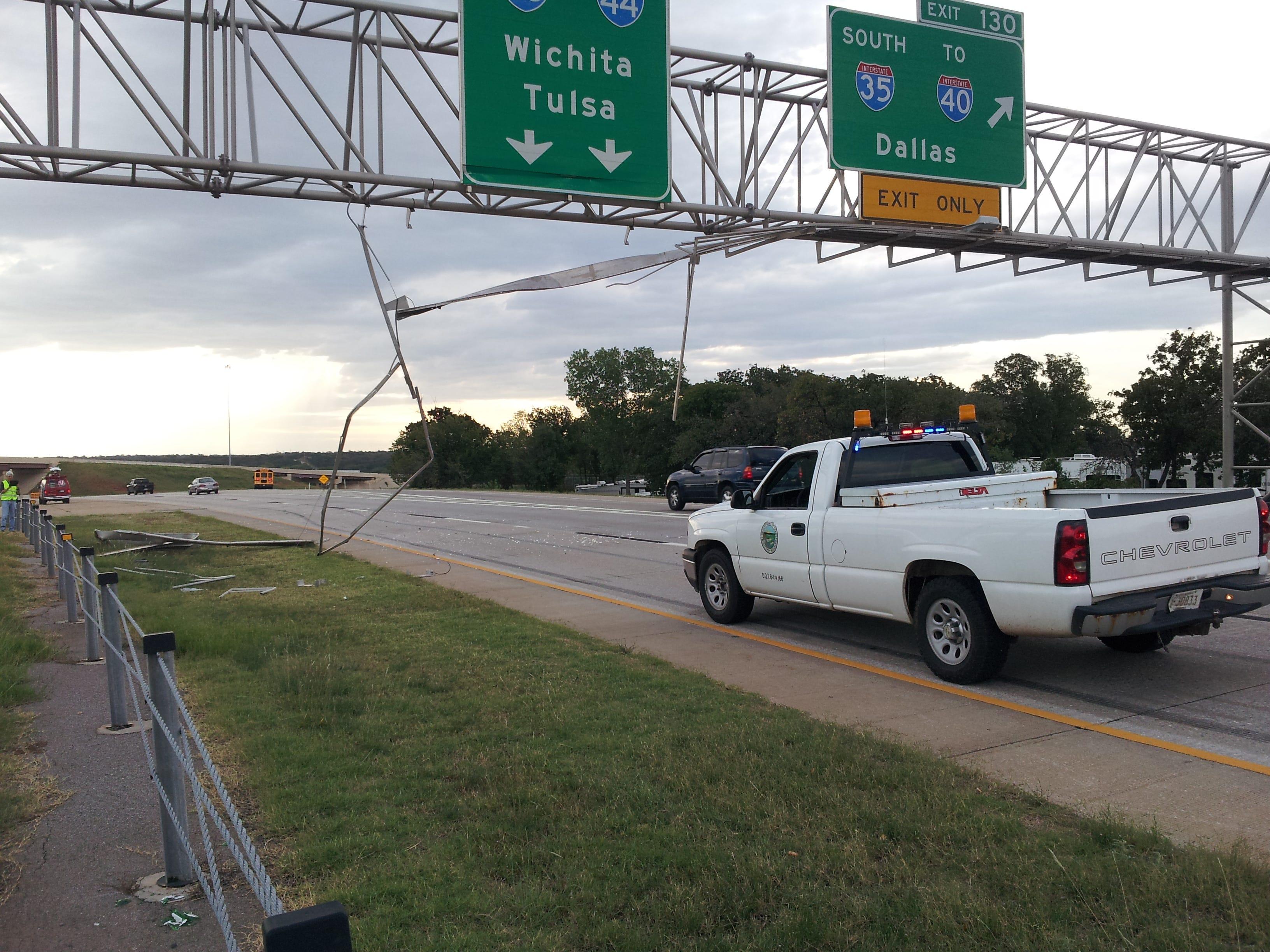 Semi-Truck Slams Into Overpass In OKC