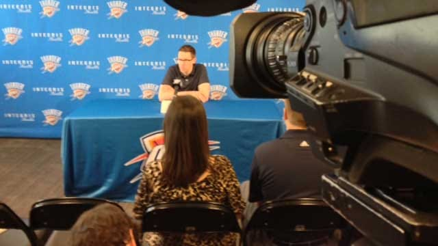 Thunder GM Sam Presti Holds News Conference