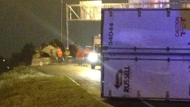 Semi Wreck Closes All Eastbound Lanes Of I-40 At Air Depot