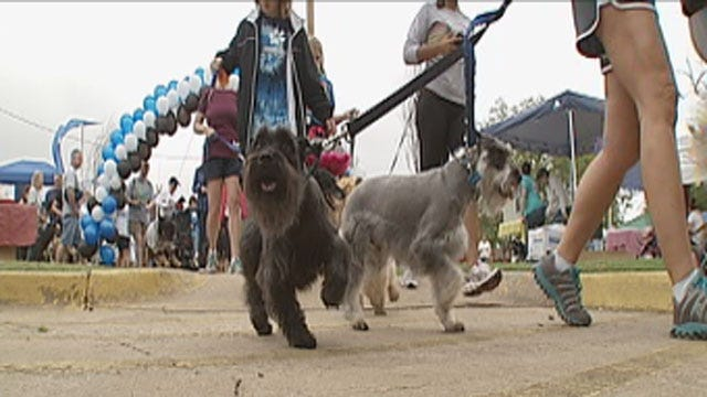 Oklahomans Take Their Dogs On A Walk For A Good Cause