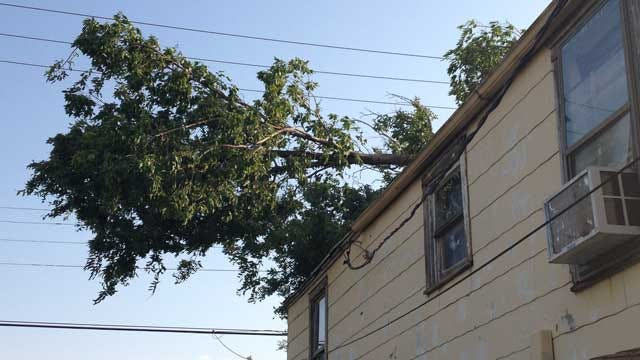 Wind Damage Reported In Southwest OKC