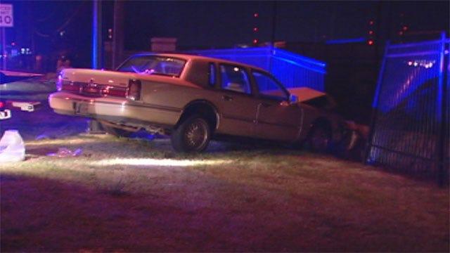Driver Crashes Into Fence Surrounding OKC School