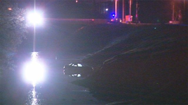 Suspect Crashes Car Into OKC Creek