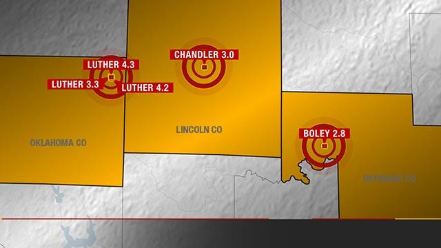 Five Earthquakes Rattle Oklahoma, Nerves Tuesday Morning