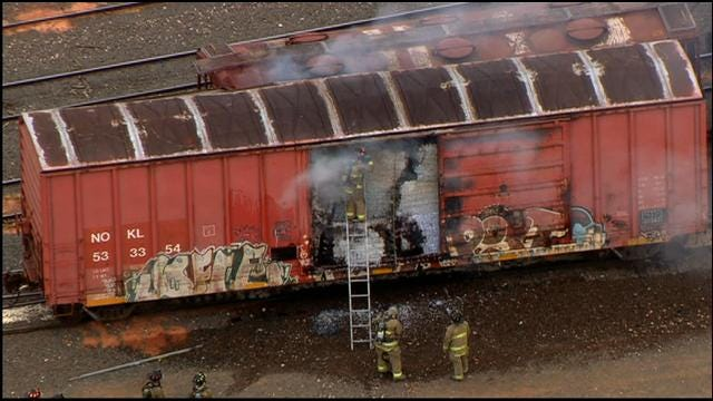 Train Accident Sparks Fire In South OKC