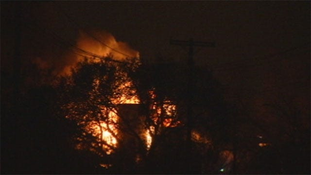 Lightning Strike Ignites Fire At Tank Battery In NE OKC