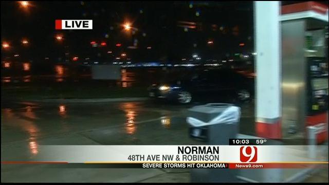News 9's Michael Konopasek Tracks Storm Activity In Norman