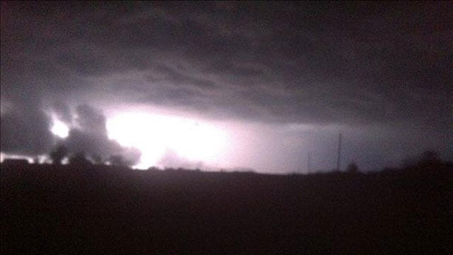 Severe Thunder Storms Rumble Across Oklahoma