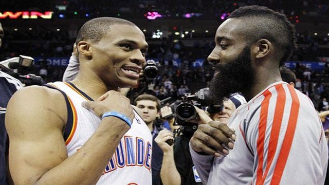 Thunder To Face Harden, Rockets In First Round Of Playoffs