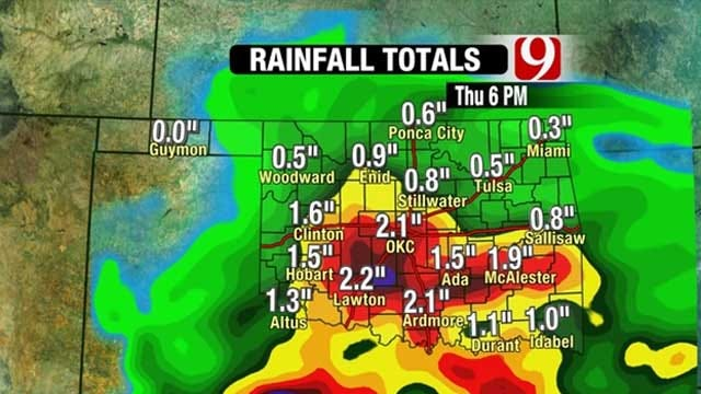 Oklahoma Stays Cold And Wet Through Thursday