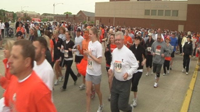 Crowds Gather For 'Remember The Ten' Run In Stillwater