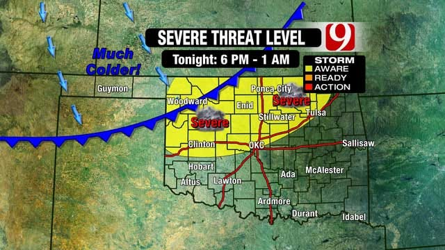 Severe Thunderstorms Possible Tuesday Before Cold Front