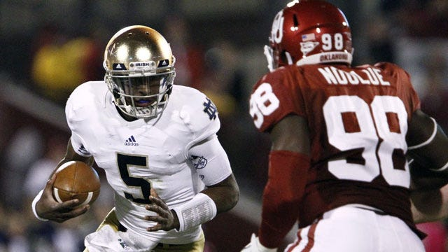 Kickoff Time Set For Oklahoma And Notre Dame