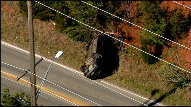 Rollover Accident Injures One In NE OKC