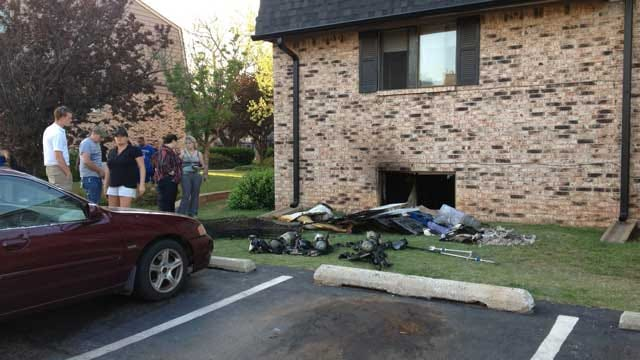 Residents Evacuated Due To Apartment Fire In Northwest OKC