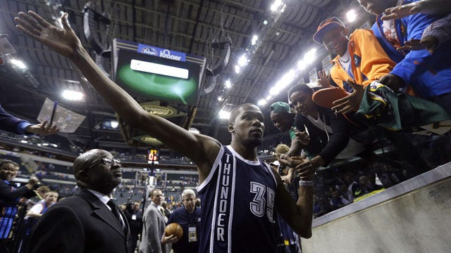 Durant, OKC Steamroll Pacers To Move Into First Place