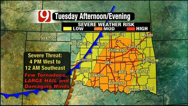 Powerful Storm System Brings Threat Of Severe Weather To Oklahoma