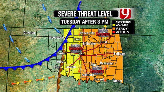 Severe Weather Possible For Tuesday