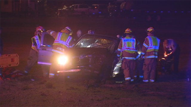 Train Conductor Stops To Help After Rollover Crash In Midwest City