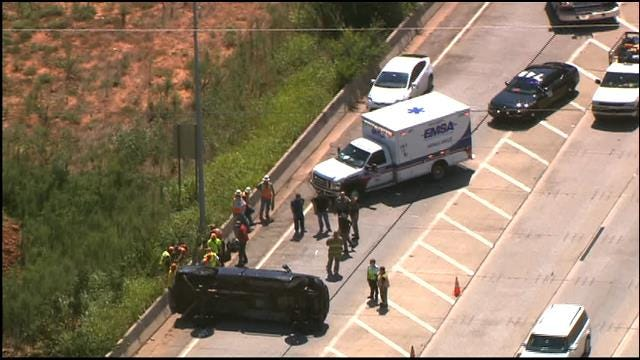 Crews Respond To Rollover Accident On Eastbound I-44, Near Broadway Ext.