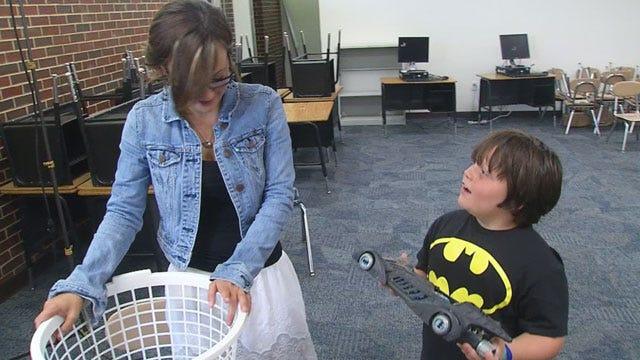 Teacher's Batman Collection Lifting Spirits At Plaza Towers