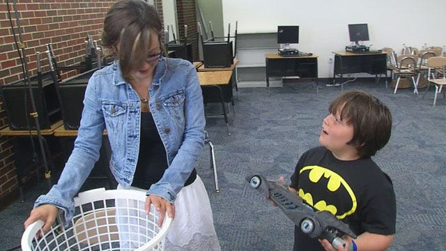 Plaza Towers 'Batman Teacher' Accepts Donations To Replace Lost Collection