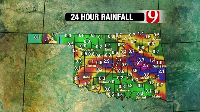 Portions Of Oklahoma Receive Above Average Rainfall