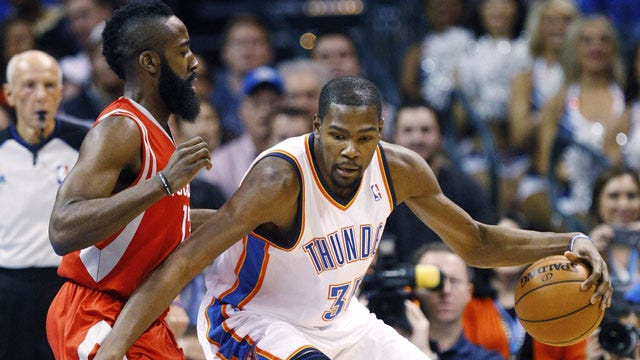 Kevin Durant and James Harden Miss Playing Together