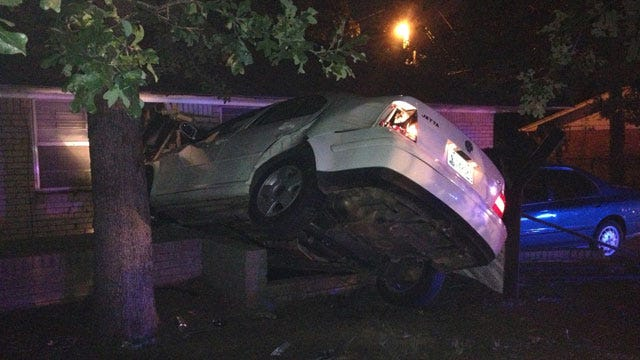 Car Crashes Into Bethany Home During Police Chase
