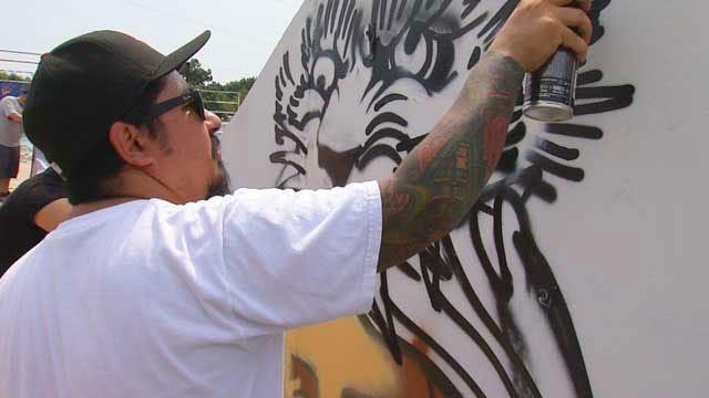 Graffiti Artists Decorate Norman Skate Park